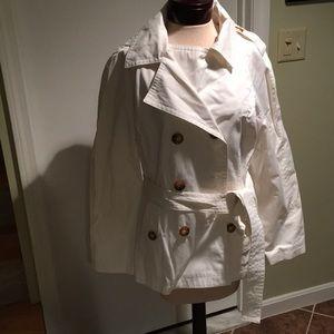 Michael Michael Kors White rain jacket